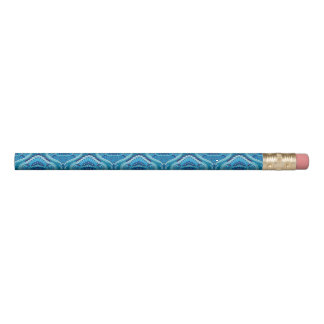 Feathered Paisley - Blueish Pencil
