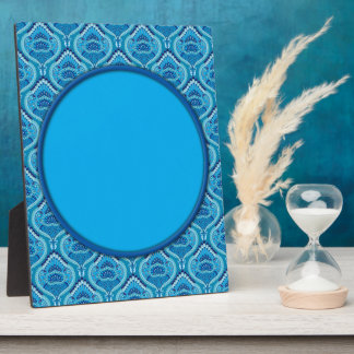 Feathered Paisley - Blueish Plaque