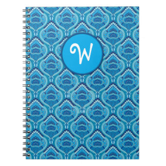 Feathered Paisley - Blueish Spiral Note Books