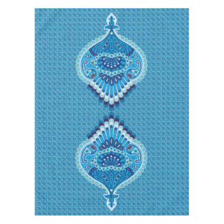 Feathered Paisley - Blueish Tablecloth