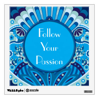 Feathered Paisley - Blueish Wall Sticker