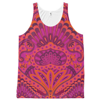 Feathered Paisley - Pinkoinko All-Over-Print Tank Top