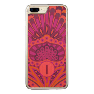 Feathered Paisley - Pinkoinko Carved iPhone 8 Plus/7 Plus Case