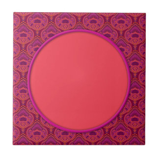 Feathered Paisley - Pinkoinko Ceramic Tiles