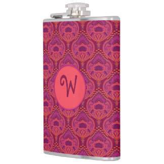 Feathered Paisley - Pinkoinko Hip Flask