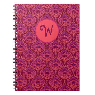 Feathered Paisley - Pinkoinko Notebook