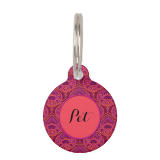 Feathered Paisley - Pinkoinko Pet ID Tag