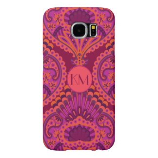 Feathered Paisley - Pinkoinko Samsung Galaxy S6 Cases
