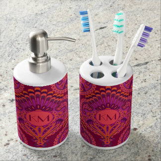 Feathered Paisley - Pinkoinko Soap Dispensers