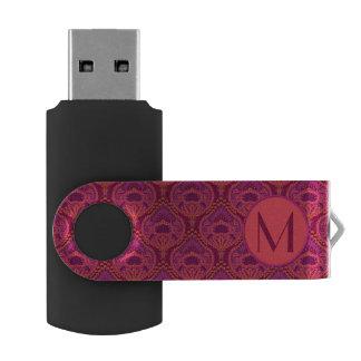 Feathered Paisley - Pinkoinko USB Flash Drive