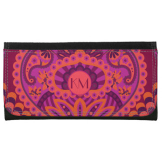 Feathered Paisley - Pinkoinko Wallet For Women