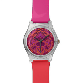 Feathered Paisley - Pinkoinko Watch