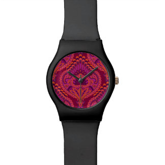Feathered Paisley - Pinkoinko Wrist Watch