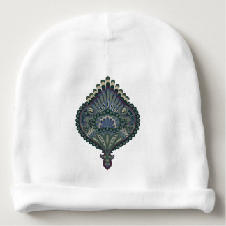 Feathered Paisley - Winter Forest Baby Beanie