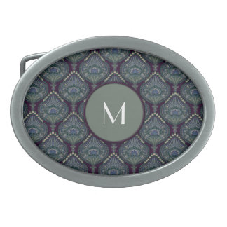 Feathered Paisley - Winter Forest Belt Buckles