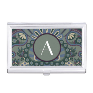 Feathered Paisley - Winter Forest Business Card Holder