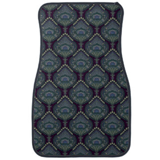 Feathered Paisley - Winter Forest Car Mat