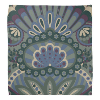 Feathered Paisley - Winter Forest Head Kerchief