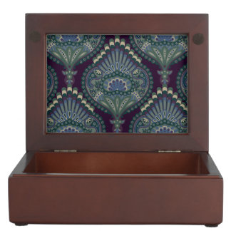 Feathered Paisley - Winter Forest Keepsake Box