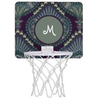 Feathered Paisley - Winter Forest Mini Basketball Hoop