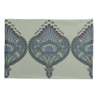 Feathered Paisley - Winter Forest Pillowcase
