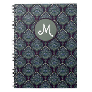 Feathered Paisley - Winter Forest Spiral Note Book