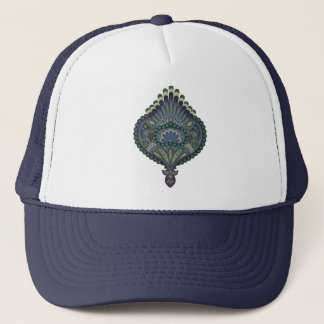 Feathered Paisley - Winter Forest Trucker Hat