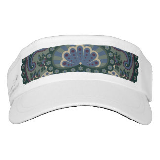 Feathered Paisley - Winter Forest Visor