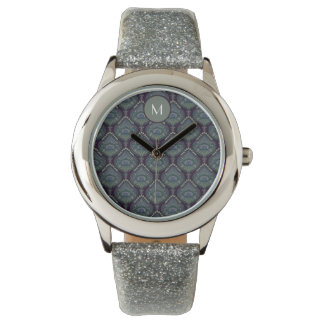 Feathered Paisley - Winter Forest Wrist Watch