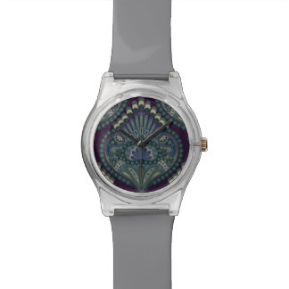 Feathered Paisley - Winter Forest Wristwatch