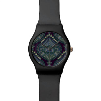 Feathered Paisley - Winter Forest Wristwatches