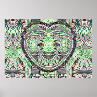 Feathered Shaman Mask poster