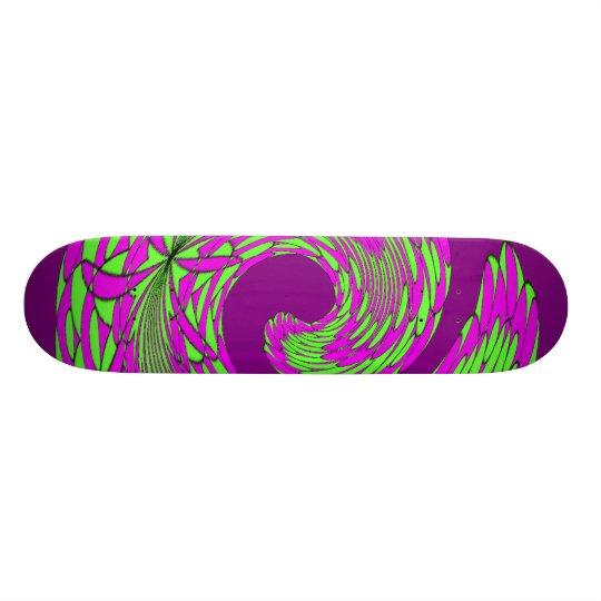 Feathered Swirl Custom Skate Board