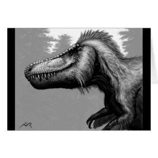 Feathered Tyrannosaur Blank Card