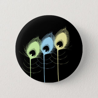Feathers 2 Inch Round Button