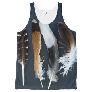 Feathers All-Over-Print Tank Top