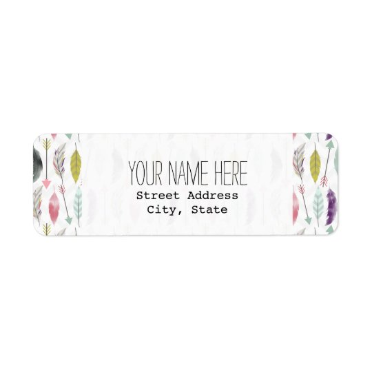 Feathers and Arrows Address Label