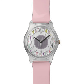 Feathers and Arrows Monogram Watch