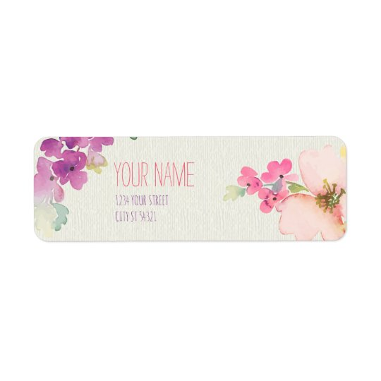 Feathers and Flowers Address Labels