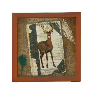 Feathers & Antlers Desk Organizer