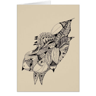 Feathers Black and White Greeting Card