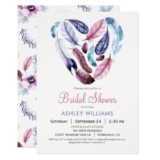Feathers Bridal Shower Invitation