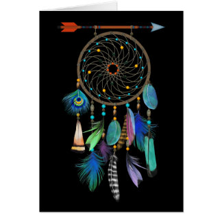 Feathers Dream Catcher | Customizable | Birthday Card