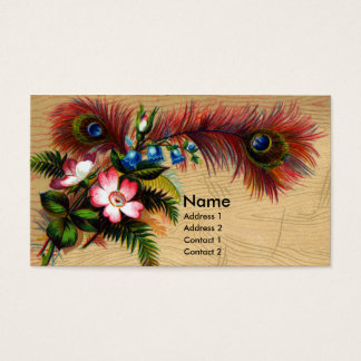 Feathers, Flowers and Ferns Business Card
