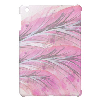 feathers, light rose, elegant, sophisticated cover for the iPad mini