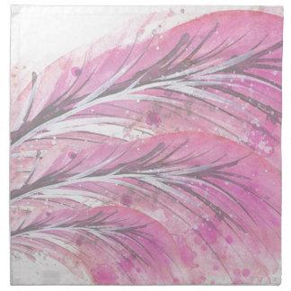 feathers, light rose, elegant, sophisticated napkin