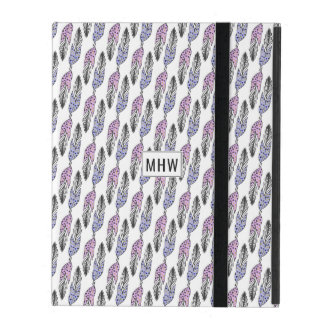 Feathers Pattern custom monogram device cases