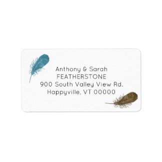 Feathers Return Address Label
