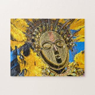 feathery mask jigsaw puzzle