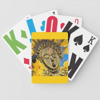 feathery mask poker deck